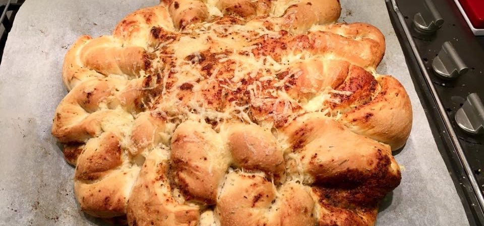 Rosemary Lemon Tear & Share Bread with Lamb Recipe