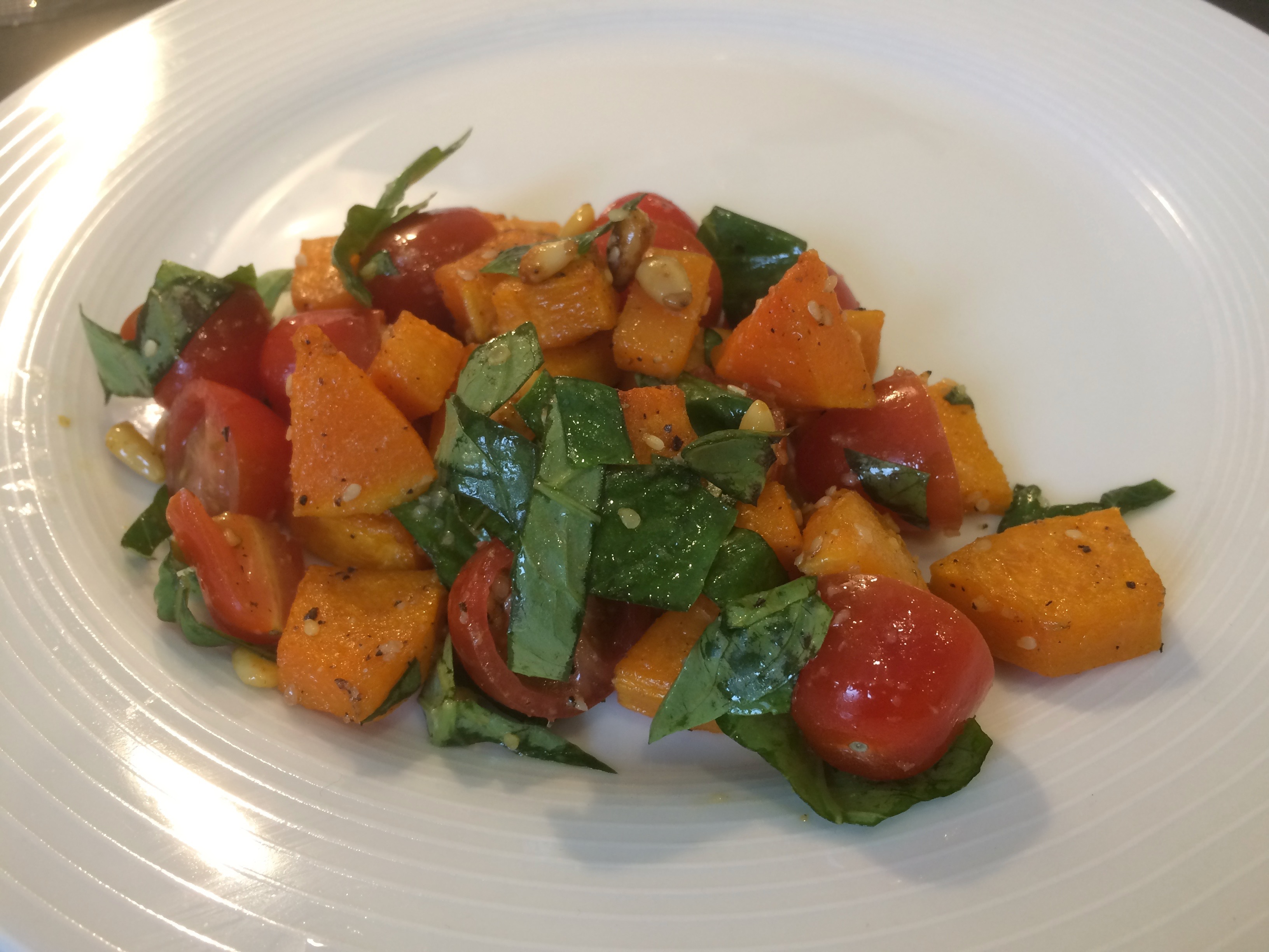Roasted Butternut Squash and Tomato Salad Recipe