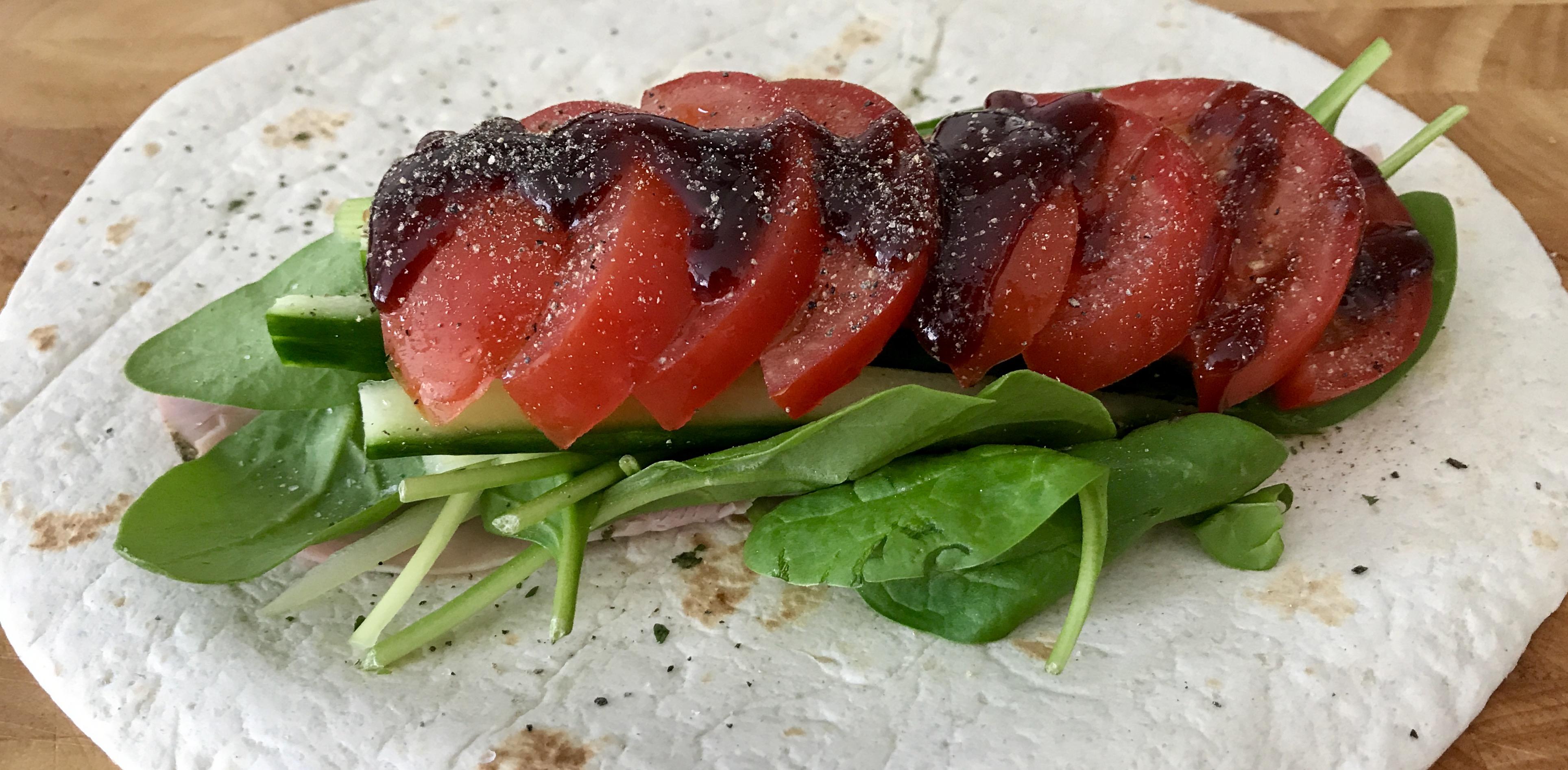 Asian pork hoisin wrap recipe