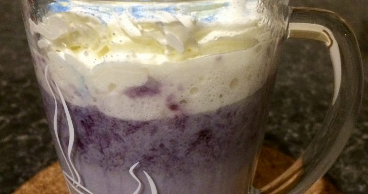 Blueberry Hot Chocolate recipe
